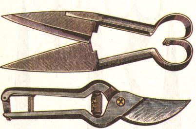 Ножницы для стрижки овец. Садовые ножницы. (402x265, 23Kb)