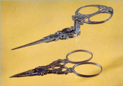 Стальные ножницы украшенные ажурной резьбой Англия 1875 (400x281, 32Kb)
