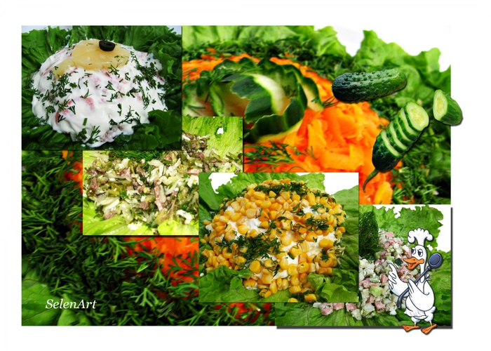 рецепты вкусных салатов с маринованными огурцами