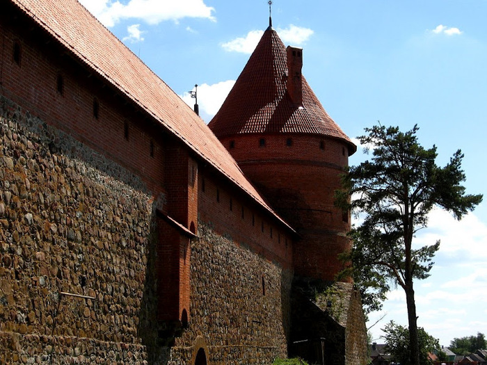 Тракайский замок недалеко от Вильнюса 19740