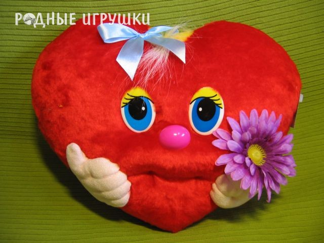 Выкройка подушки в виде сердца - Выкройка