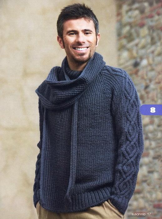 Пуловер и шарф для мужчин 1.