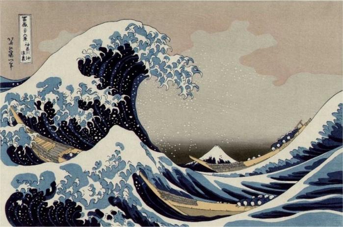 Большая волна в Канагава (700x462, 257Kb)