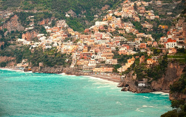 Необычные и красивые города на скалах - Позитано 2 (600x377, 117Kb)