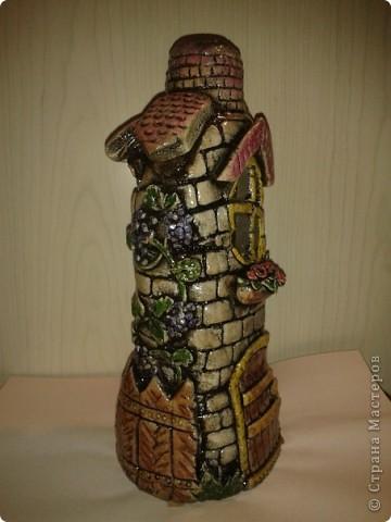 Бутылка домик своими руками фото