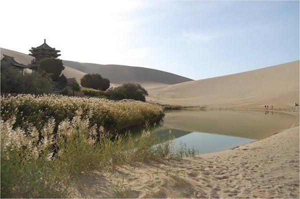Старинный оазис посреди пустыни Такла-Макан  7 (600x399, 68Kb)