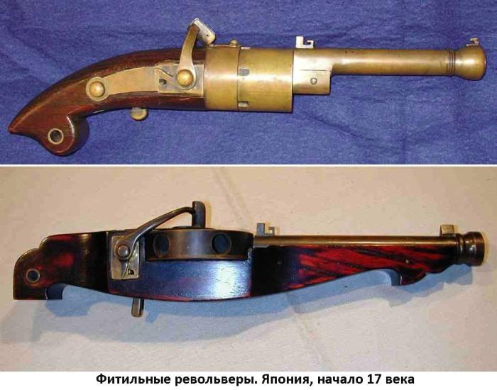 02 японские фитильные револьверы 17 века (700x550, 95Kb)