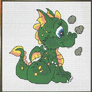 Несколько схем с драконами.  Поскольку нас ожидает год Дракона, такие картинки можно подарить друзьям и близким.