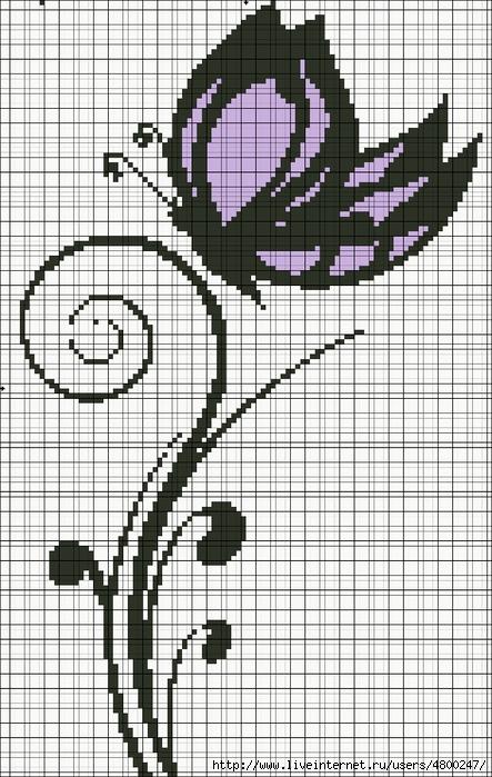 бабочки схемывышевка крестом