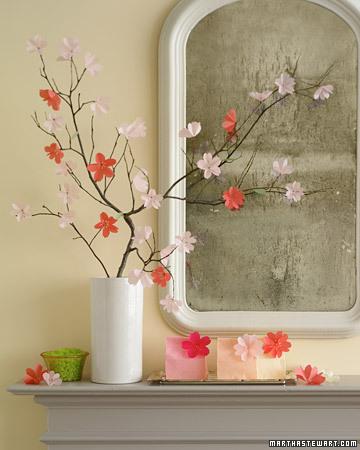 Как украсить комнату на весну своими руками
