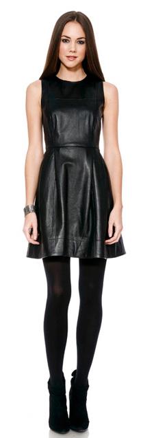 Shoshanna leater dress (225x637, 70Kb)