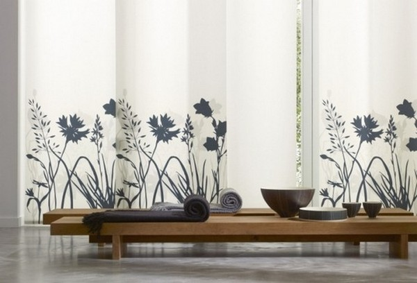 Стильные японские шторы в интерьере вашего дома 16 (600x408, 50Kb)