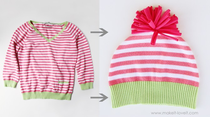 Как сшить шапку из свитера своими руками