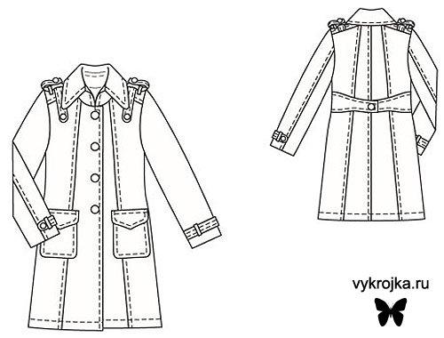 пальто на девочку выкройка - Мода и.