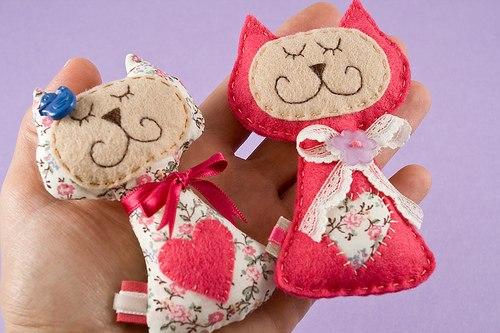 Мягкие игрушки своими руками из фетра фото