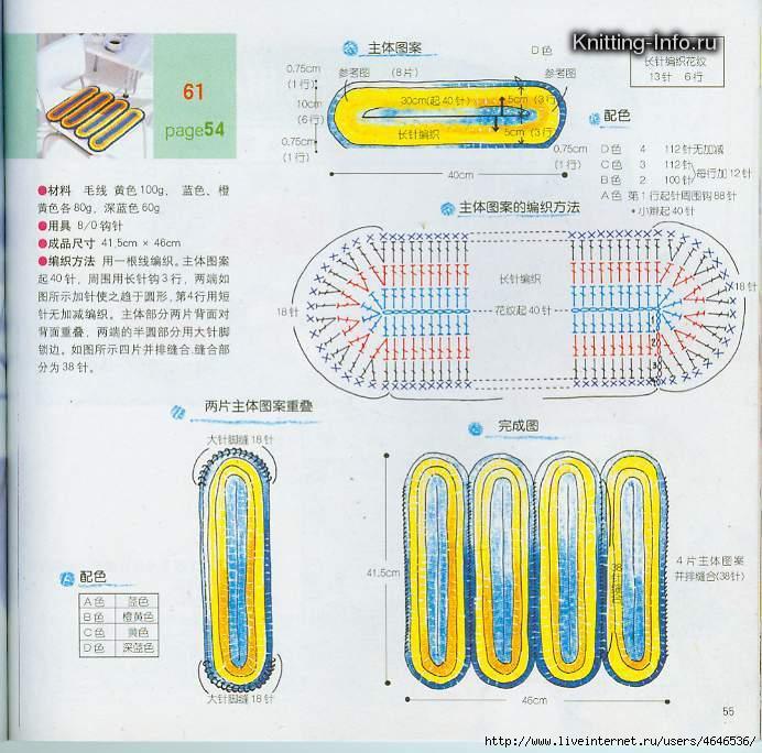 Схема вязания овала-для