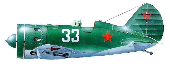 И-16 тип 29 Старшего лейтенанта В. Ф. Голубева.  4-й ГвИАП ВВС КБФ, 1942 год. (695x275, 31Kb)