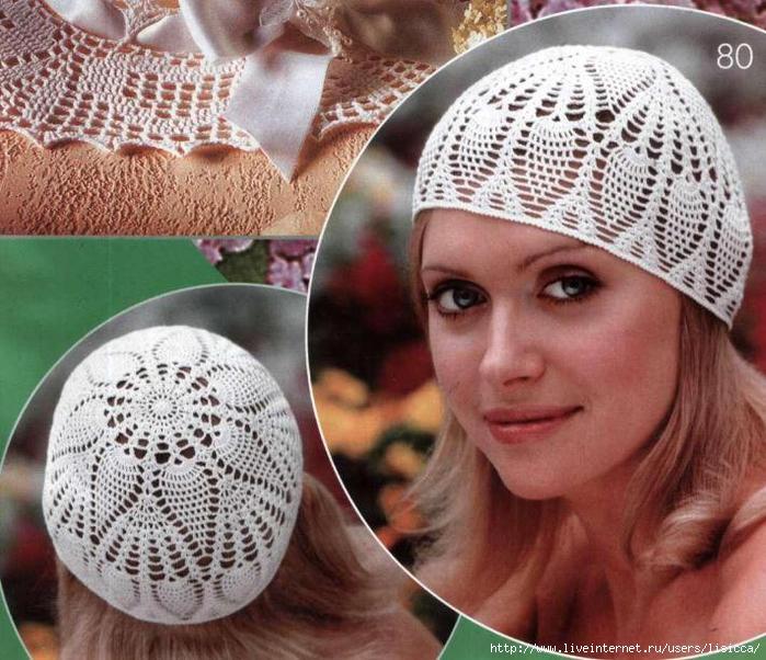 Вязание крючком женские шапочки летней