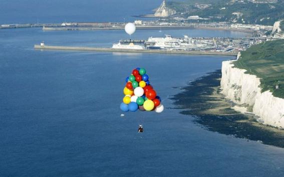 Перелет через Ла-Манш на воздушных шарах
