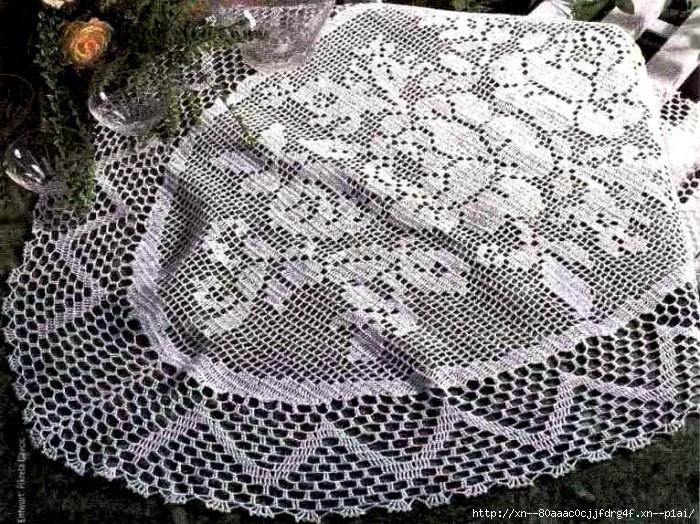 Салфетка с розочками в коллекцию