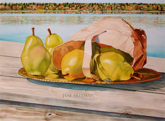 Jane Freeman.Pears On Movil (700x515, 84Kb)