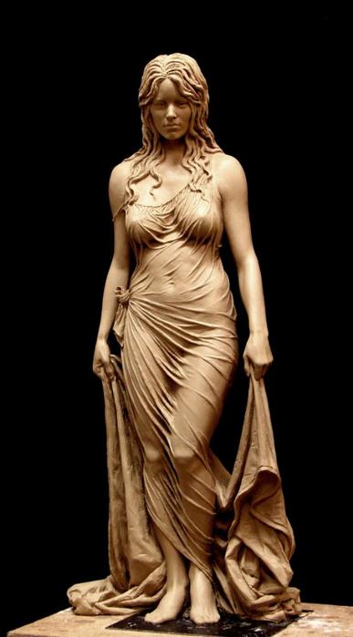 Скульптура матери царя Соломона - Вирсавии. Автор Бенджамин Виктор2 (387x700, 166Kb)