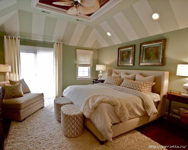 Интерьер спальни в мансарде (3) (600x480, 169Kb)