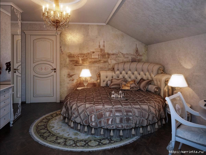 Интерьер спальни в мансарде (11) (700x525, 286Kb)