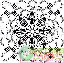 Летний жакет болеро крючком. Схема (5) (262x258, 116Kb)