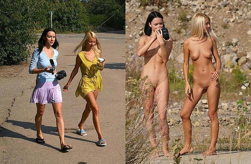 фото девушек раздетые и одетые