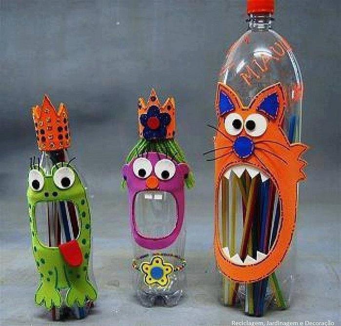 Поделка из пластмассовой бутылки для детей