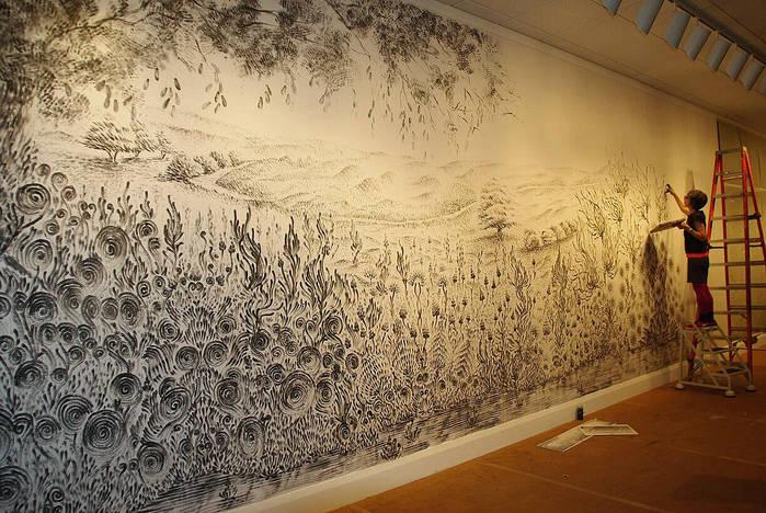 Рисуем красками на стенах