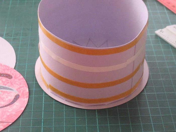 Упаковка для круглого торта своими руками