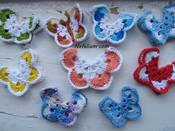 Мк по вязанию бабочки 2