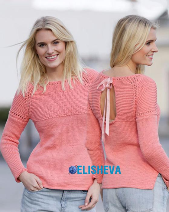 1428935688_pulover-vesenne-letniy-s-vyrezom-na-spine-vyazanyy-spicami3 (559x700, 380Kb)