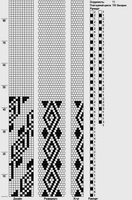 Схемы вязания бисерных жгутов крючком 87