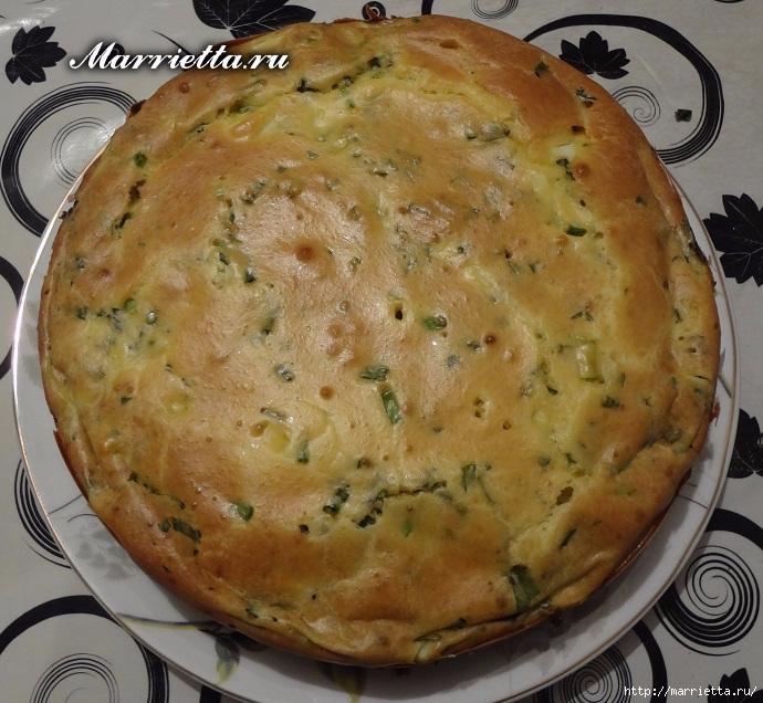 Пирог с тархуном и зеленым луком (4) (690x636, 308Kb)