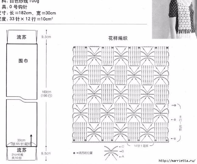 Летние шарфики крючком (5) (648x539, 192Kb)