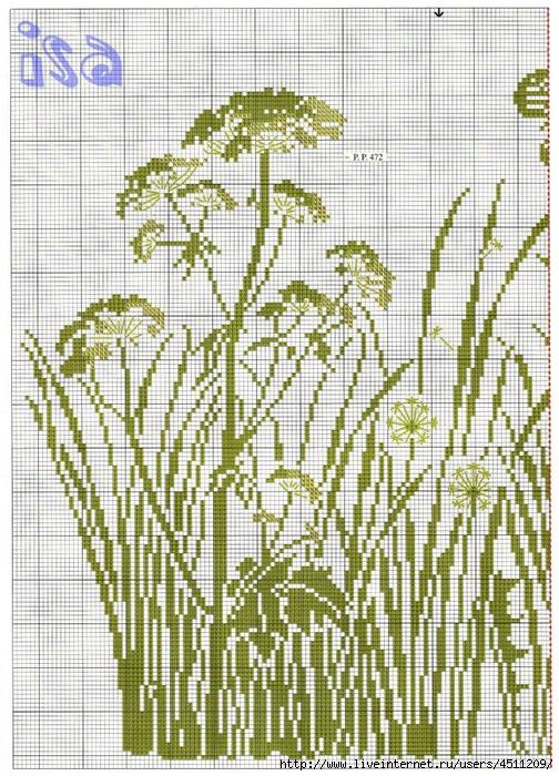 Вышивка травы схемы 26