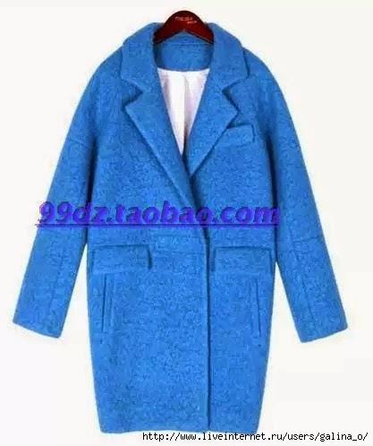 Пальто свободного кроя выкройка