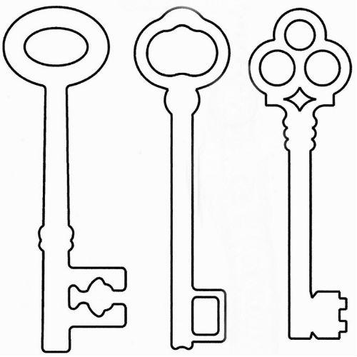 Ключ своими руками шаблон