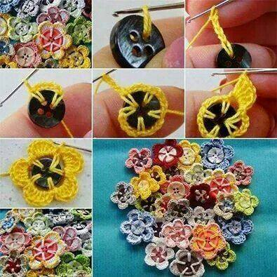 Цветы из пуговиц, декоративные пуговицы, цветы крючком, цветы крючком своими руками, интересные идеи, креативные идеи, креативное рукоделие, цветы своими руками, сделано руками /4394340_cveti_kruchkom (395x395, 43Kb)