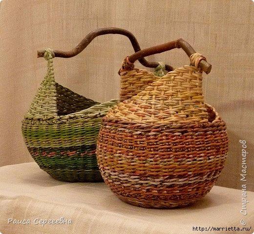 Плетение корзинки с ушками. Маленький мастер-класс (2) (520x480, 209Kb)