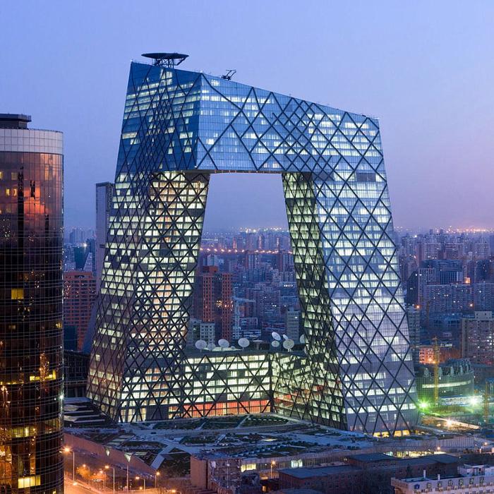Штаб-квартира центрального телевидения в Пекине (700x700, 637Kb)