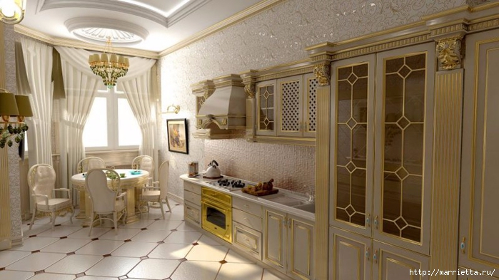 Кухня в классическом стиле (1) (700x393, 215Kb)