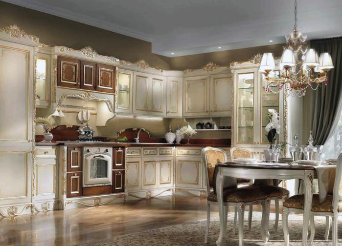 Кухня в классическом стиле (1) (700x504, 557Kb)