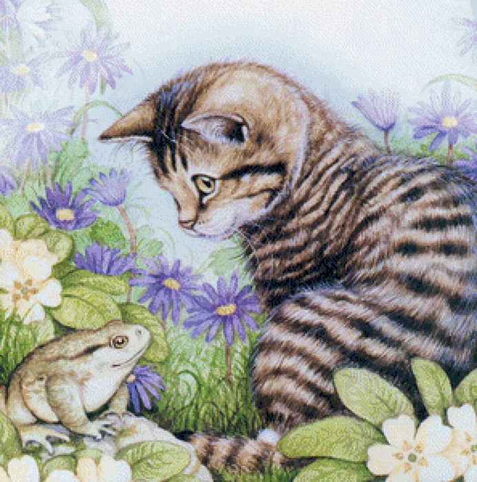 Милый кот.Дэбби Кук-2 (692x700, 599Kb)