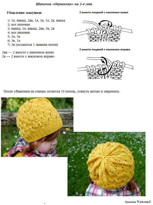 шапка одуванчик2 (523x700, 274Kb)