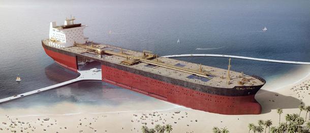 зона отдыха из стаорого танкера Black Gold Project 1 (610x262, 160Kb)