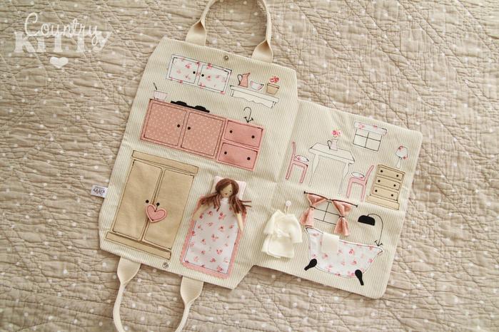 Домик-сумка для кукол своими руками мастер класс